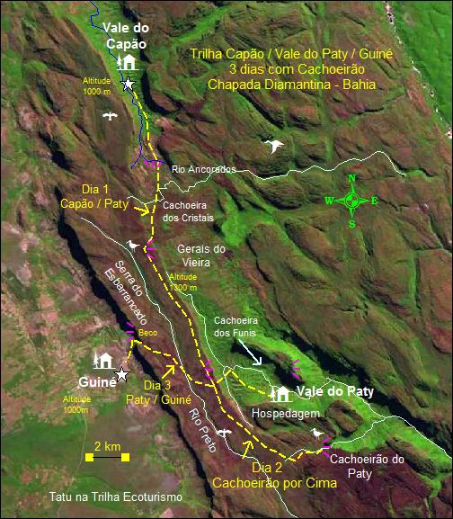 Capão Pati Guiné - Vale do Pati - Vila do Guiné - De 3 a 5 dias