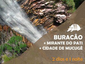 TATU roteiros 300x225 - Cachoeira do Buracão + Mirante do Pati + Mucugê = 2 dias e 1 noite