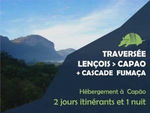 TATU roteiros FR travessia 300x225 - Traversée Lençois et Vale do Capão + cascade Fumaça